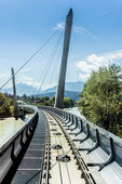 Innsbrucker Nordkette cable railways in Austria. — Stock Photo
