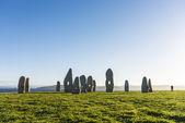Menhirs park in A Coruna, Galicia, Spain — Stock Photo