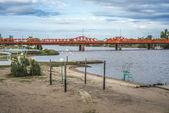 Bridge over Gualeguaychu River, Argentina. — 图库照片