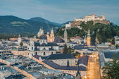 Salzburg general view as seen from Monchsberg viewpoint, Austri — 图库照片