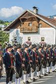 Maria Ascension procession Oberperfuss, Austria. — Stock Photo