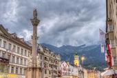 Coluna de saint anne em innsbruck, áustria. — Foto Stock