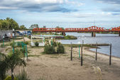 Bridge over Gualeguaychu River, Argentina. — Fotografia Stock