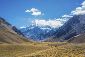 Aconcagua, in the Andes mountains in Mendoza, Argentina. — Stock Photo