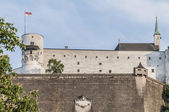 Hohensalzburg Castle (Festung Hohensalzburg) at Salzburg, Austri — Stock Photo