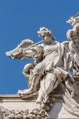 Trevi Fountain, the Baroque fountain in Rome, Italy. — Stock Photo