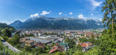General view of Innsbruck in western Austria. — Stock Photo