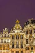Guildhalls na grand place em bruxelas, bélgica. — Fotografia Stock