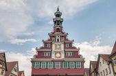 Antiga câmara municipal, em esslingen am nechar, alemanha — Foto Stock