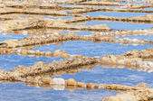Salt pans near Qbajjar in Gozo, Malta. — Stock Photo
