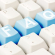 FAQ written on keyboard buttons — Stock Photo