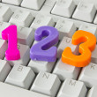 Three numbers on the computer keyboard — Stock Photo
