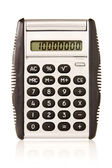 Electronic calculator on white background — Stock Photo