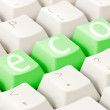 Stock Photo: Computer keyboard with eco option