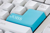 Jobs button on computer keyboard — Stock Photo