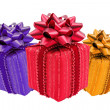 Three color gift boxes — Stock Photo #13545937