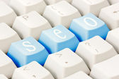 SEO buttons on the keyboard — Stock Photo