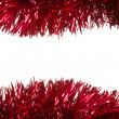 Christmas tinsel as a border — Stock Photo