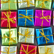 Many colorful  gift boxes — Stock Photo