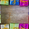 Frame made from gifts — Stock Photo