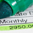 Payslip with monthly wage — Stock Photo