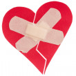 Stock Photo: Broken heart with plaster