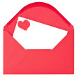 Stock Photo: Envelope with love letter
