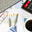 Desk of a businessman - Foto Stock