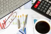 Desk of a businessman — Stock Photo