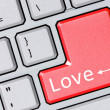 Foto de Stock  : Modern keyboard with love text