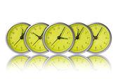 Green clocks — Stock Photo