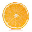 Slice of orange with reflection — Stock Photo