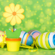 Royalty-Free Stock Photo: Decorative flower and Easter eggs