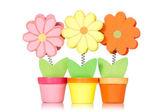Decorative wooden flowers — Stock Photo