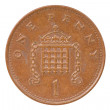 British one penny coin reverse — Stock Photo
