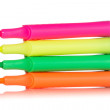 Four colorful highlighter pens - Stock Photo