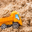 Dump truck fully loaded sand — Stock Photo