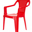 Red plastic chair — Stock Photo