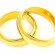 Pair of golden wedding rings — Stock Photo #29347081