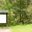 Stock Photo: Wooden billboard in forest
