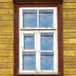 Window of old wooden house — Stock Photo