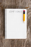 Goals of year 2014 — Stock Photo