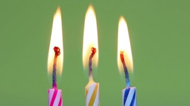 Three birthday candles — Stock Video