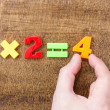 Solving simple mathematical formula — Stock Photo
