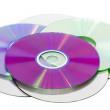 Stack of cd roms — Stock Photo