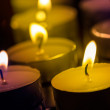 Candles on a dark background  — Stock Photo