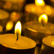 Stock Photo: Burning candles with shallow depth of field