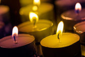 Candles on a dark background — Stok fotoğraf
