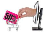 Internet sale concept — Stockfoto