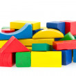 Stock Photo: Wooden colored cubes